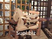 Детский спортивный инвентарь подвесная качель деревянная