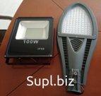 Светодиодные уличные светильники, прожектора, а также офисные потолочные светодиодные светильники